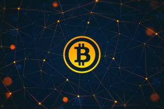 Bitcoin Cryptocurrency Background for 1080x960