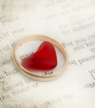 Heart In Ring Background for Nokia C-5 5MP