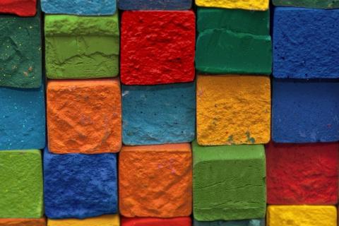 Colorful Bricks para Samsung S5367 Galaxy Y TV
