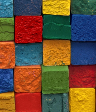 Colorful Bricks sfondi gratuiti per iPhone 6 Plus