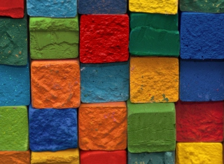 Colorful Bricks papel de parede para celular