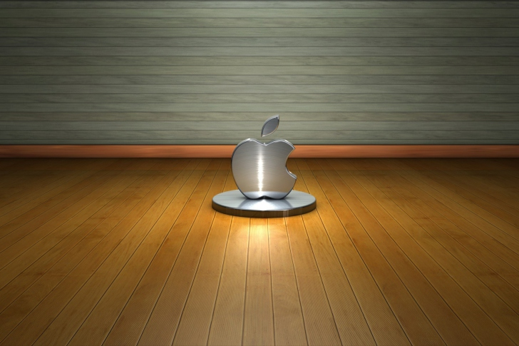 Fondo de pantalla Metallic Apple Logo