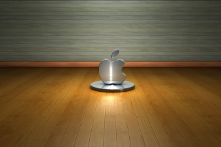 Metallic Apple Logo Wallpaper for Android 480x800