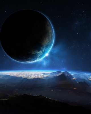 Distant Planet Background for 480x800