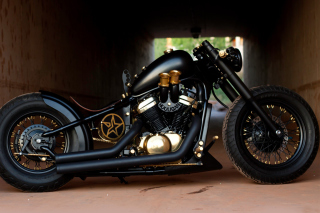 Bobber Hooligan Bike Background for Android, iPhone and iPad