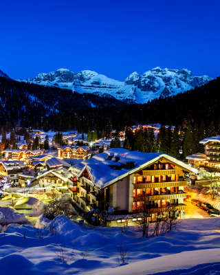 Madonna di campiglio town in Italy Alps Background for 240x320