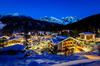 Madonna di campiglio town in Italy Alps Wallpaper for Android, iPhone and iPad