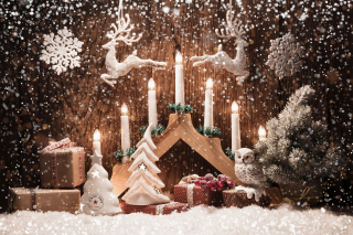 Christmas Candles Background for Android, iPhone and iPad