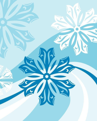 Snowflakes Patterns Wallpaper for Nokia C2-05