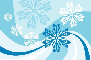 Snowflakes Patterns Wallpaper for Android, iPhone and iPad