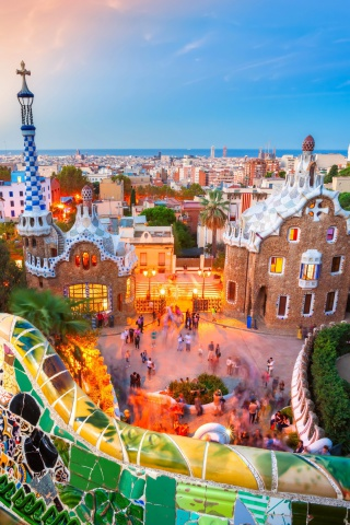 Screenshot №1 pro téma Park Guell in Barcelona 320x480