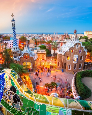 Park Guell in Barcelona Wallpaper for iPhone 6 Plus