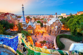 Park Guell in Barcelona Wallpaper for Android 480x800