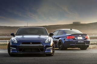 Nissan GTR and BMW M3 E92 Background for Android, iPhone and iPad