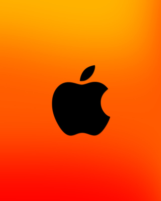 Free Apple Logo Orange Picture for Nokia C1-01