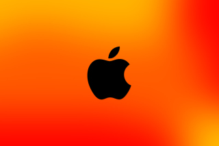 Apple Logo Orange papel de parede para celular