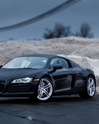Audi R8 Coupe Matteblack sfondi gratuiti per iPhone 6 Plus