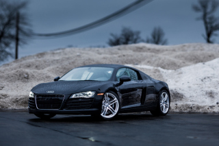 Audi R8 Coupe Matteblack Wallpaper for Android, iPhone and iPad