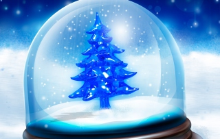 Free Snowy Christmas Tree Picture for Android, iPhone and iPad