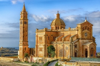 Malta Church Background for Desktop 1280x720 HDTV