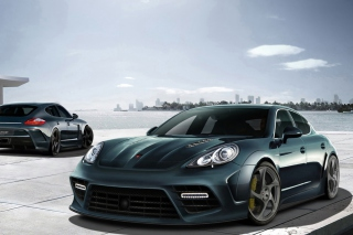 Mansory Porsche Panamera Background for Samsung Galaxy Grand 2