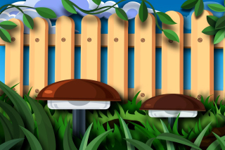 Kostenloses Fence in a Country House Wallpaper für Android, iPhone und iPad