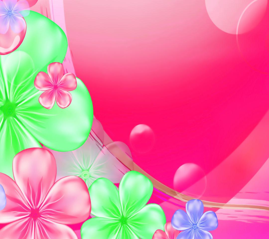 Pink Floral para Motorola RAZR XT910