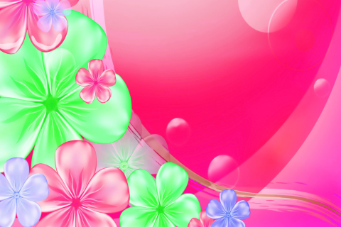 Pink Floral para LG E400 Optimus L3