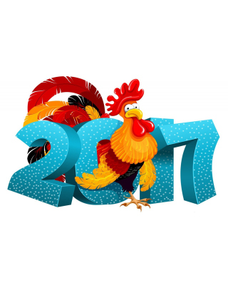 2017 New Year Chinese Horoscope Red Cock Rooster - Obrázkek zdarma pro iPhone 6