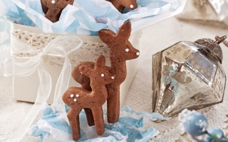 Free Christmas Deer Cookies Picture for Android, iPhone and iPad