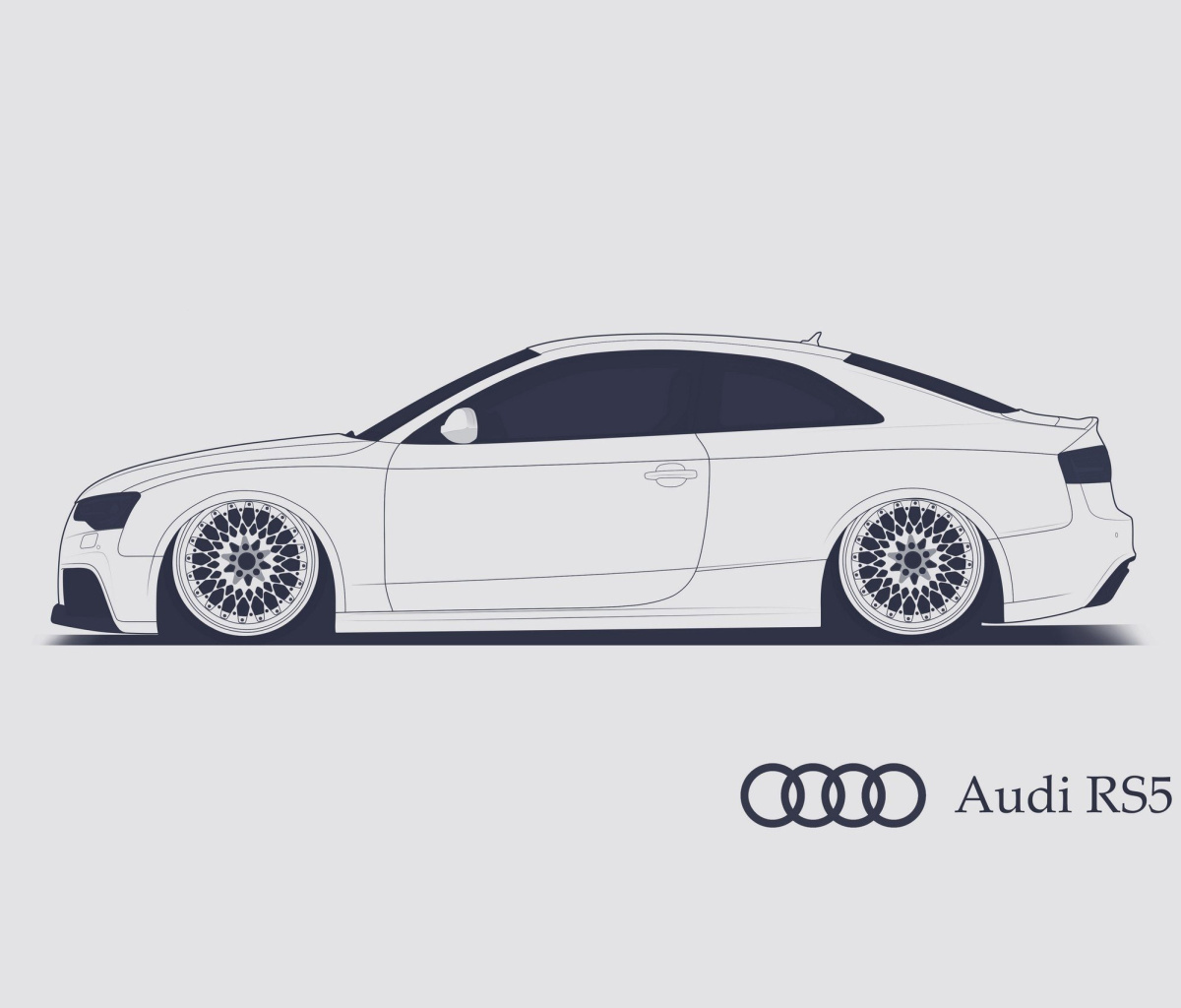 Rs Wallpaper: Audi RS 5 Advertising Wallpaper For HTC Flyer