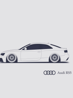 Screenshot №1 pro téma Audi RS 5 Advertising 240x320