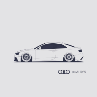 Audi RS 5 Advertising Wallpaper for iPad 3