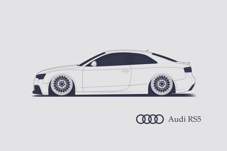 Обои Audi RS 5 Advertising