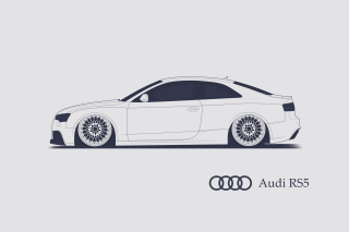 Kostenloses Audi RS 5 Advertising Wallpaper für Samsung Galaxy S6
