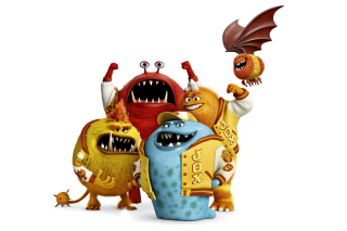 Monsters University, Jaws Theta Chi students - Obrázkek zdarma pro Android 320x480