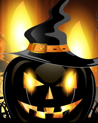 Free Evil Pumpkin Picture for Nokia Asha 310