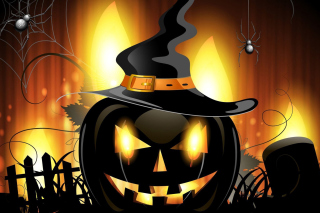 Evil Pumpkin Background for Android, iPhone and iPad