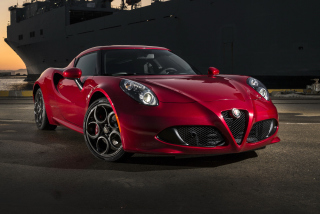 Alfa Romeo 4C Background for Android, iPhone and iPad