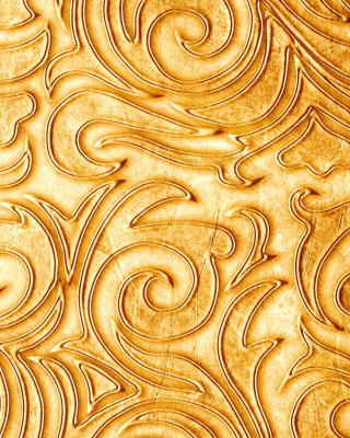 Gold sprigs pattern Wallpaper for Nokia C-5 5MP