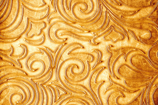 Gold sprigs pattern Picture for Android 2560x1600