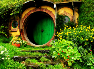Hobbit House Wallpaper for Android, iPhone and iPad