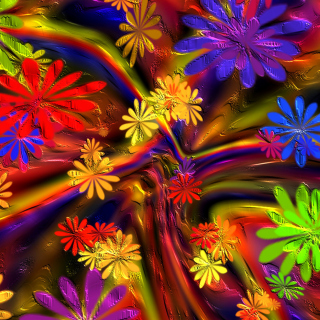 Colorful paint flowers - Fondos de pantalla gratis para iPad 2