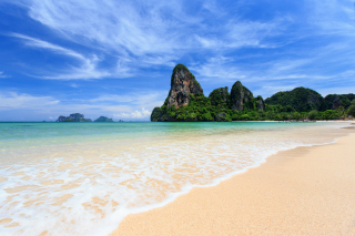 Railay Beach in Thailand sfondi gratuiti per Samsung Galaxy Ace 3