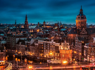 Amsterdam Sightseeing Background for Android, iPhone and iPad