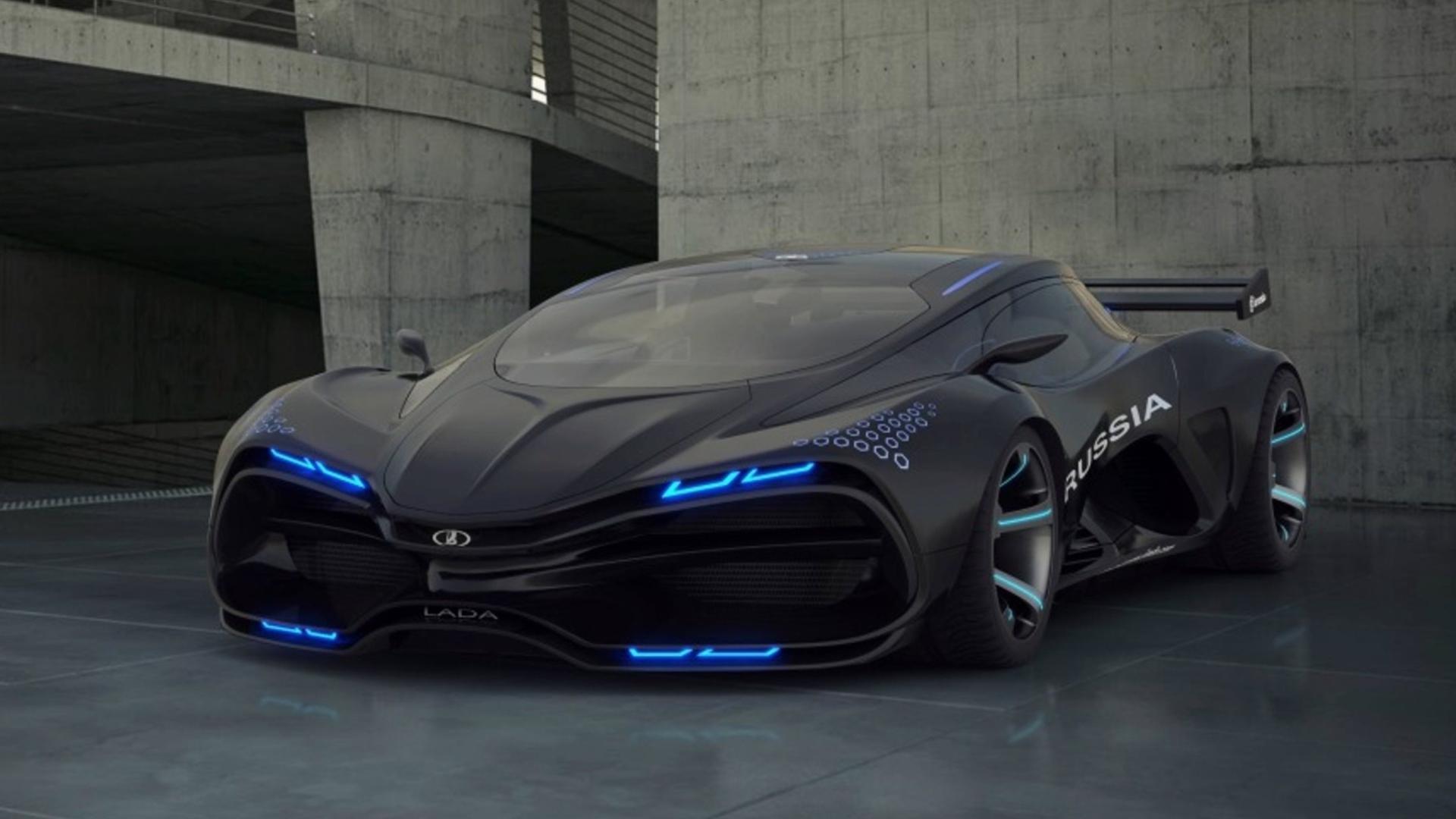 спортивный автомобиль Lada Raven концепт без регистрации
