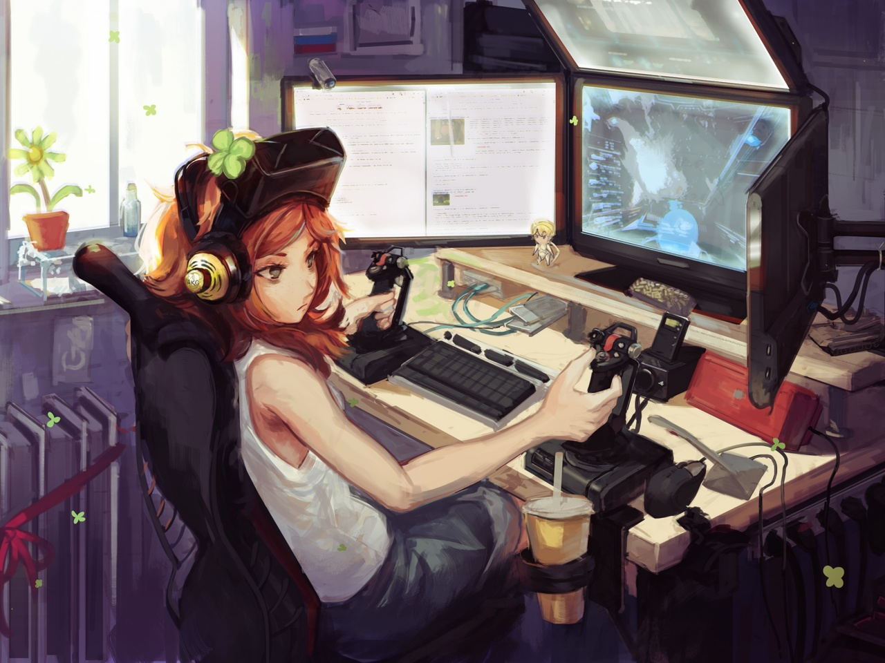 Screenshot №1 pro téma Anime Girl Gamer 1280x960