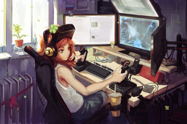 Anime Girl Gamer wallpaper