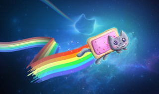 Nyan Cat Background for Android, iPhone and iPad