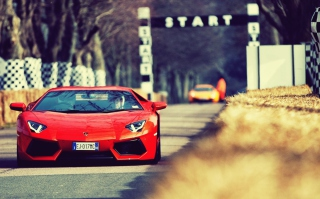 Red Lamborghini Aventador Wallpaper for Android, iPhone and iPad